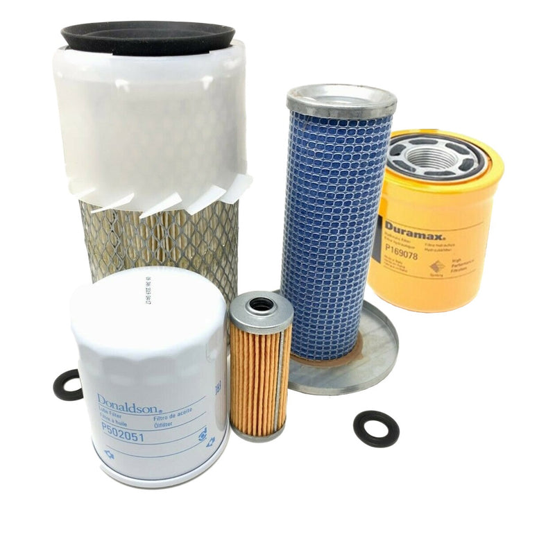 John Deere 855 Compact Tractor Maintenance Filter Kit (5 Donaldson Filters) - crossfilters