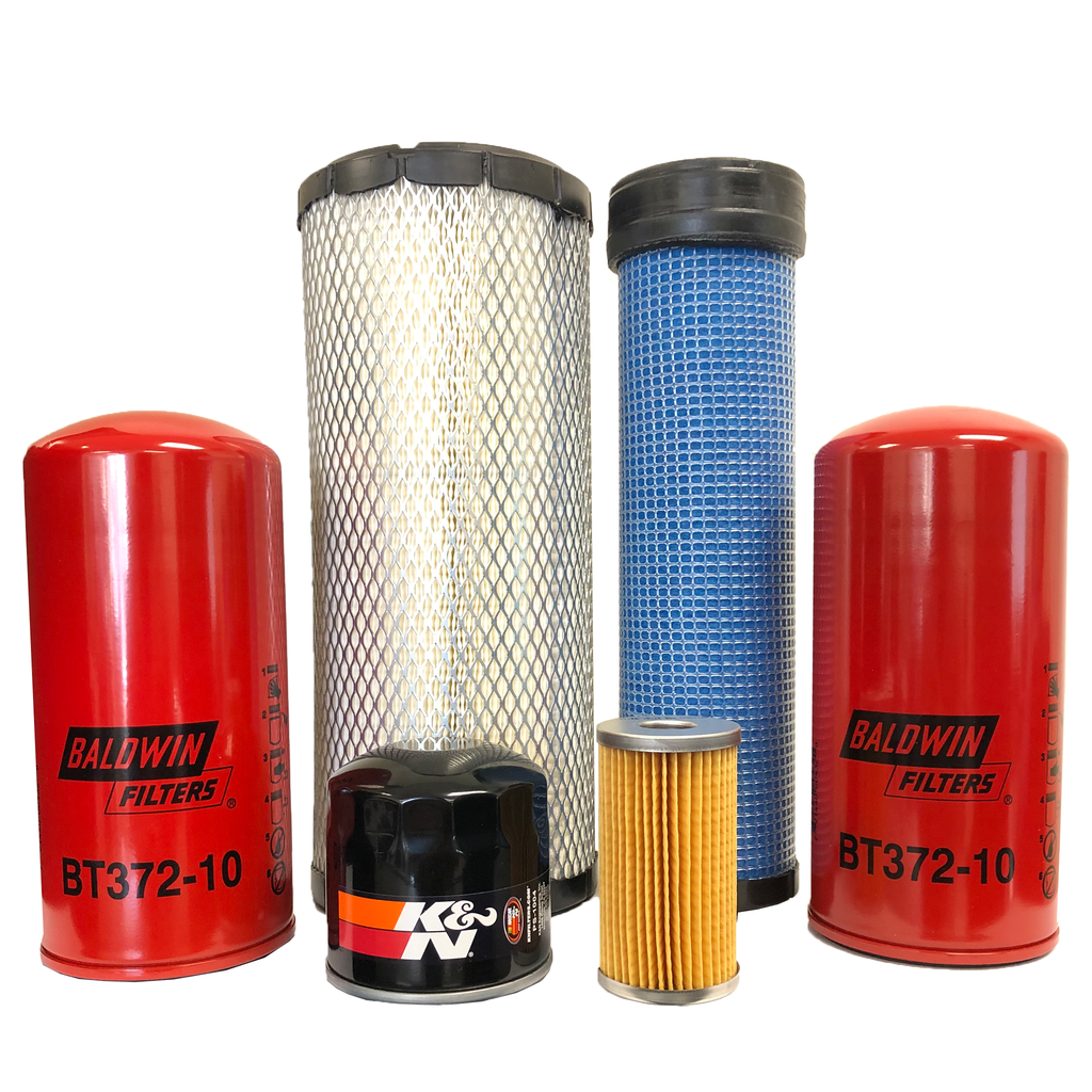 CFKIT Maintenance Filter Kit for Mustang 2044 Skid Steer w/ Yanmar 4TNE84 Eng.