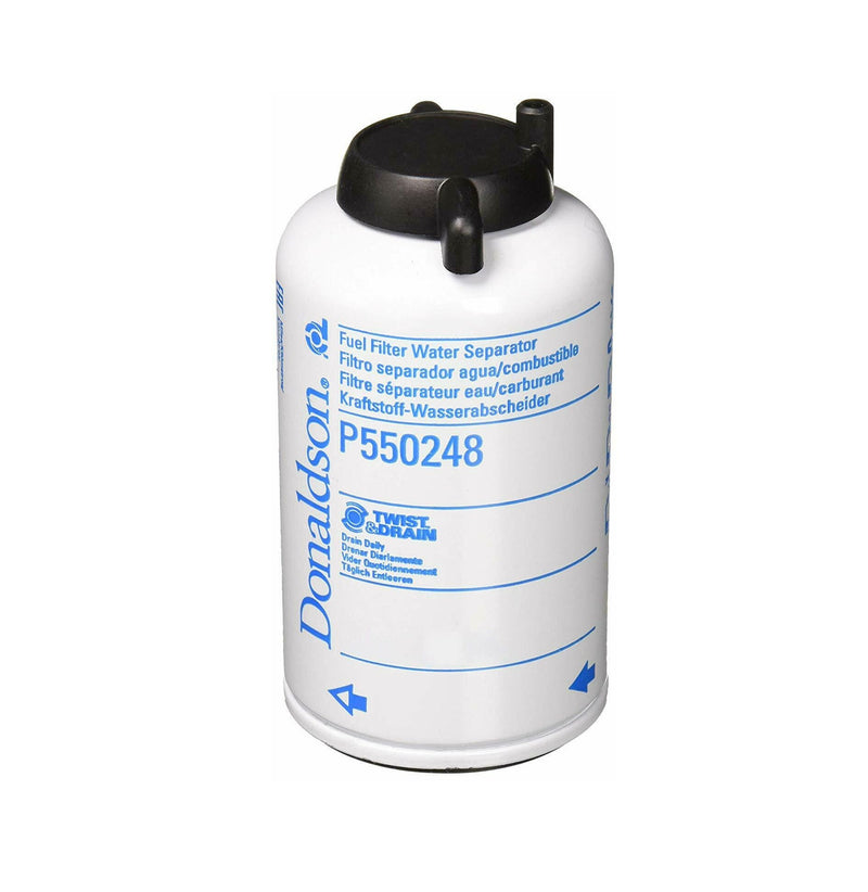 P550248 Donaldson Fuel Filter, Water Separator Spin-On Twist&Drain ( Replaces New Holland 76194582 )