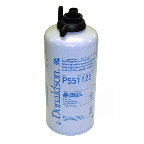 P551122 Donaldson Fuel Filter, Water Separator Spin-On Twist&Drain