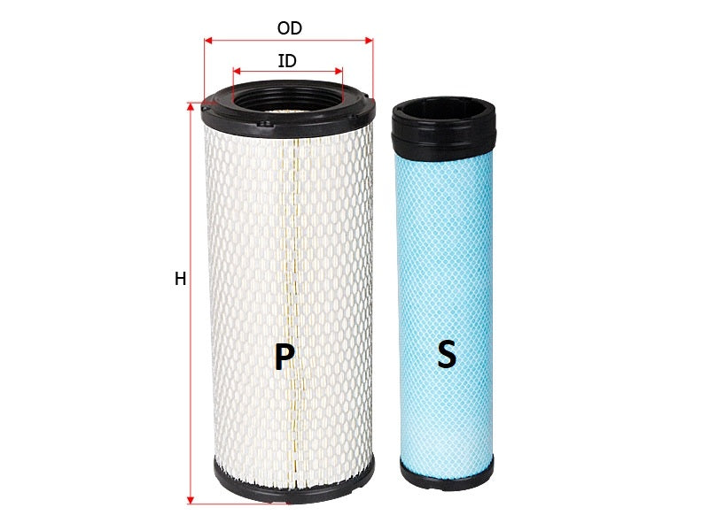 SFA 5588SET Sure Filter Air Filter Set (6666375, 6666376, 222425A1, 222429A1, KV16428, AP33331) - crossfilters