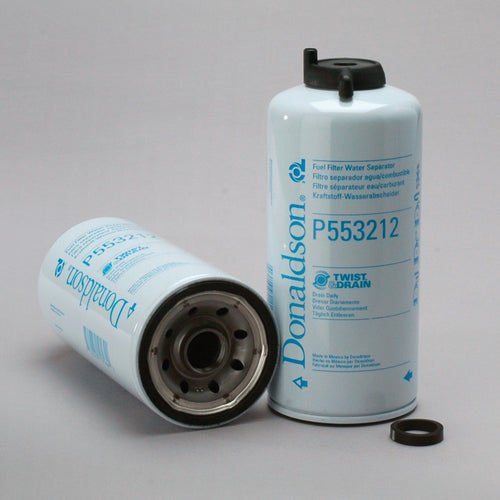 P553212 Donaldson Fuel Filter, Water Separator Spin-On Twist&Drain