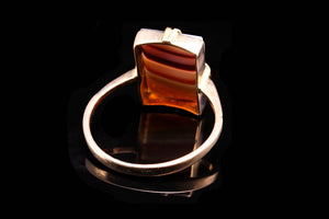 Edwardian Gold and Agate Gents Ring.