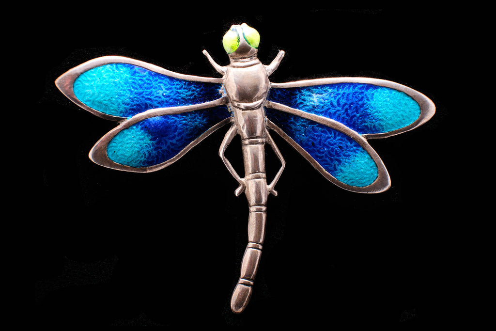 Vintage Sterling Silver and Enamel Dragonfly.  SOLD