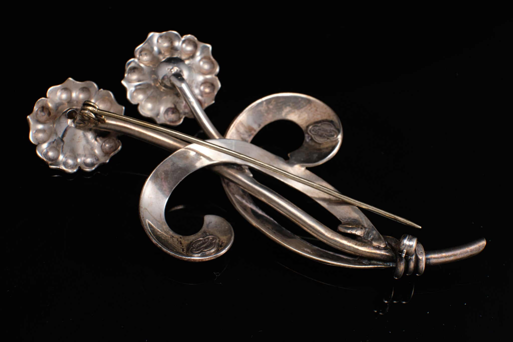 "Hand Wrought Sterling Silver ""Nino Bisso"" Pin/Brooch."