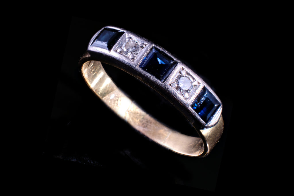 Vintage Sapphire and Diamond Ring.