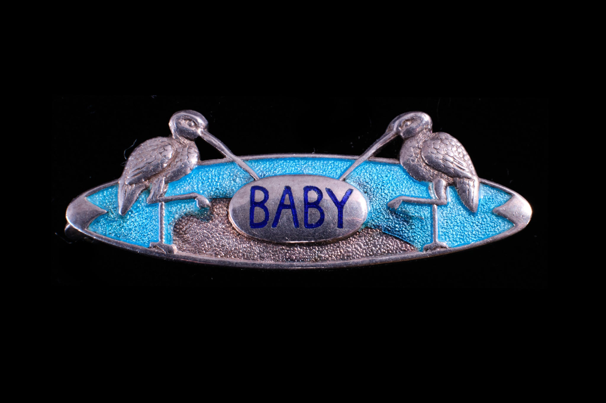 "Victorian Sterling Silver ""Baby"" Brooch."