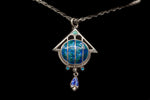 Victorian Sterling Silver and Enamel Pendant
