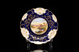 "Victorian Crescent China Plates Handpainted by Birbeck."" SOLD"
