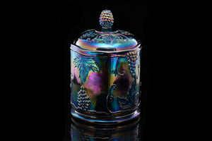 Carnival Glass Biscuit Barrel.