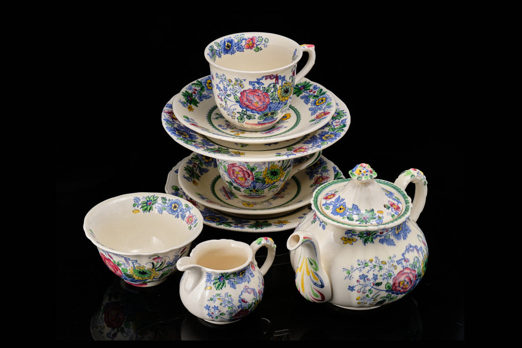 """Masons Ironstone China""Tea for Two Teaset.  SOLD"