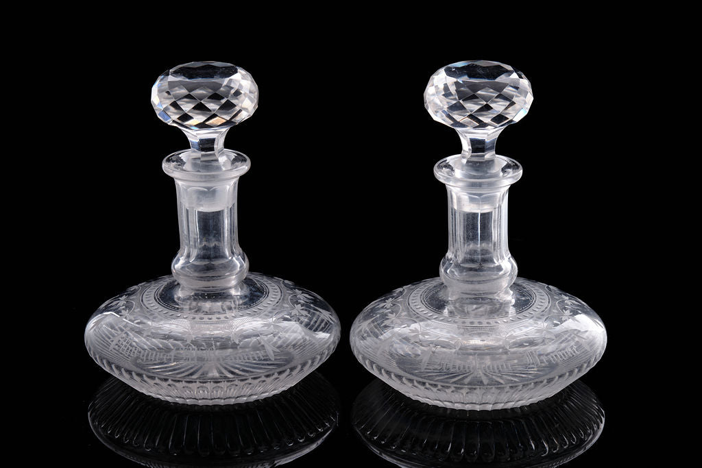 A Pair of Georgian Marriage Decanters.