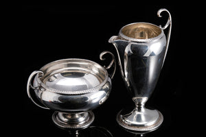Victorian Sterling Silver Creamer and Sugar.