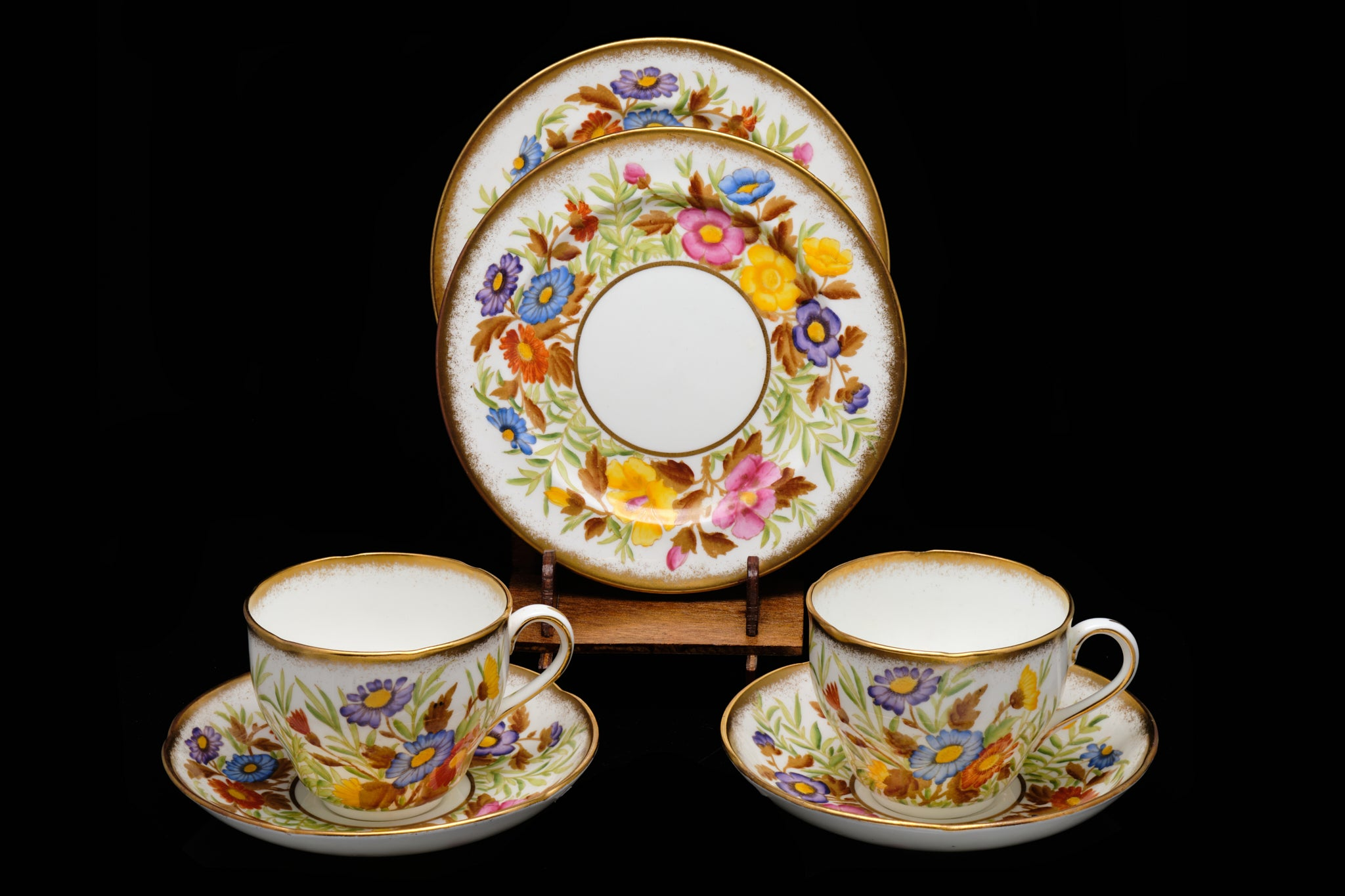 Rare Edwardian Pair of Hammersley and Co. Trio's.  SOLD