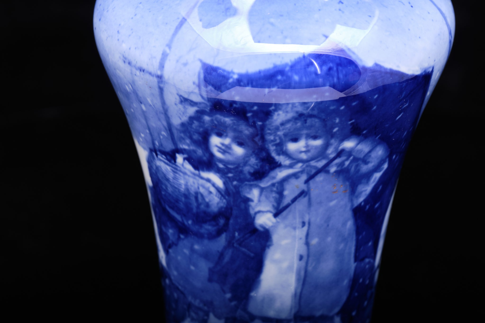 "Royal Doulton ""Blue Children Series"" Vase."