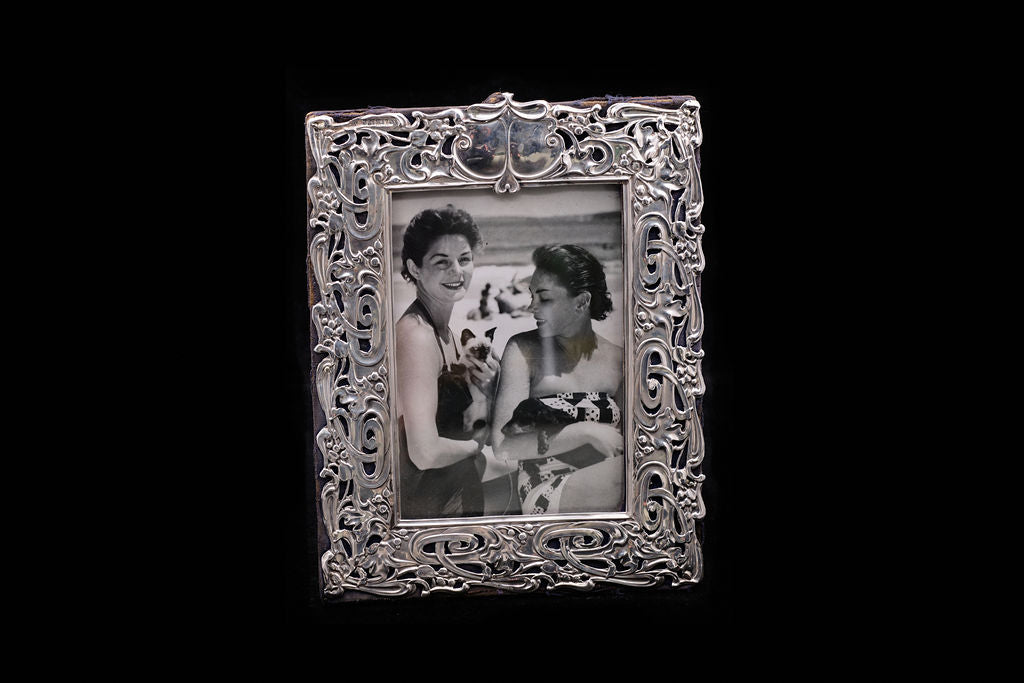Victorian Sterling Silver Art Nouveau Photo Frame.