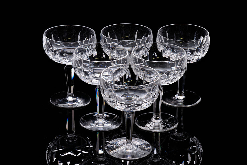 Set of Waterford Champagne Saucers.