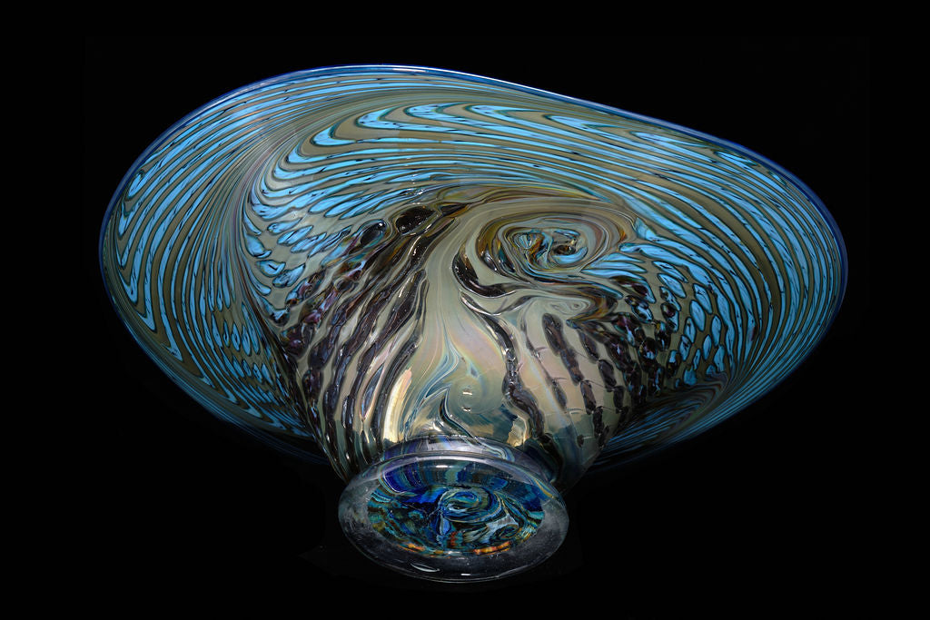 Contemporary Glass Bowl by K.L.Grand.  SOLD