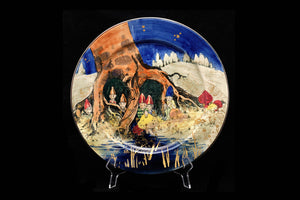 "Royal Doulton Handpainted ""Gnomes"" Plate by Charles Noke."