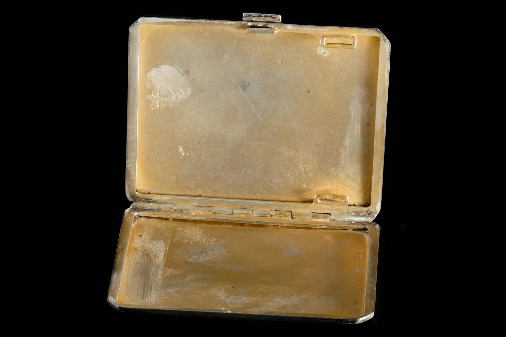 Edwardian Sterling Silver Cigarette Case.