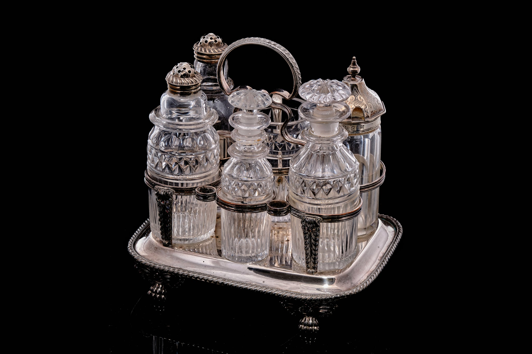 C1825 Early Victorian Condiment Set.