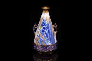 Victorian Royal Doulton Iris Patterned Vase.