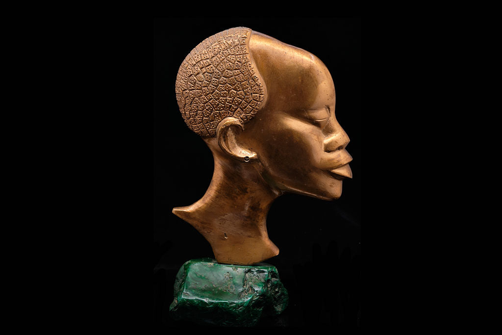 Vintage Bust on a Malachite Base