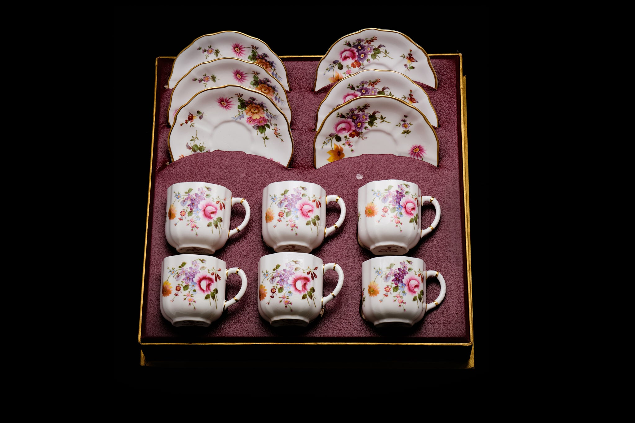 Royal Crown Derby Demi-Tasse Coffee Set.