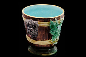 Victorian Majolica Footed Jardinaire.