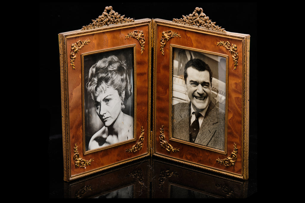 Edwardian Double Photo Frame.