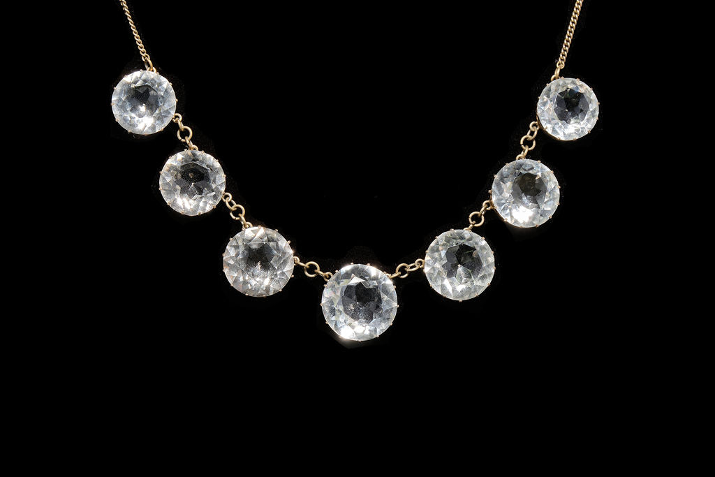 Antique Faceted Crystal Necklace.