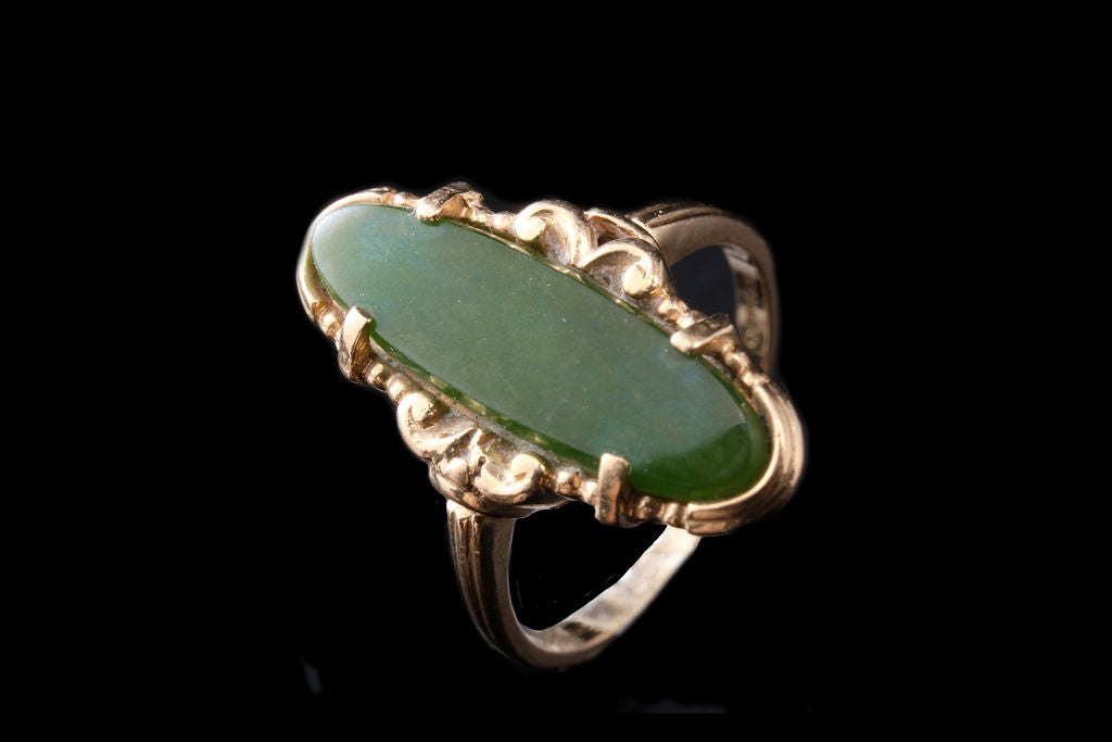 Vintage New Zealand Greenstone Ring.
