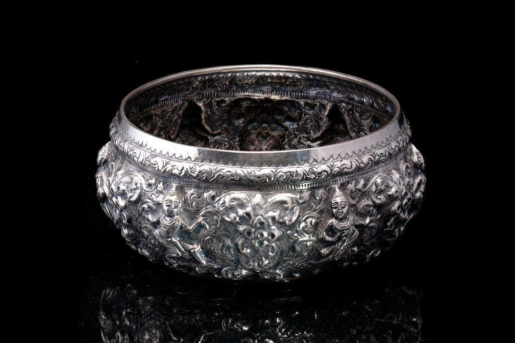 Vintage Silver Bowl made in Thailand.