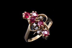 Vintage Diamond and Ruby Ring.