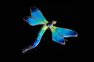 "Enamel ""Dragonfly"" made by Charmian Deacon."