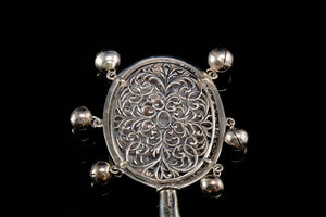 "Sterling Silver ""Jester"" Babies Rattle.   SOLD"