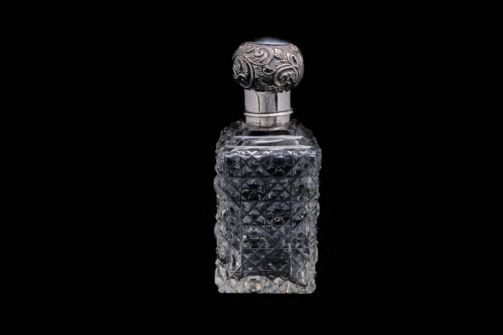 Victorian Sterling Silver Top Perfume Bottle