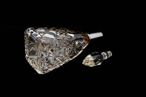Edwardian Sterling Silver Collared Perfume Bottle