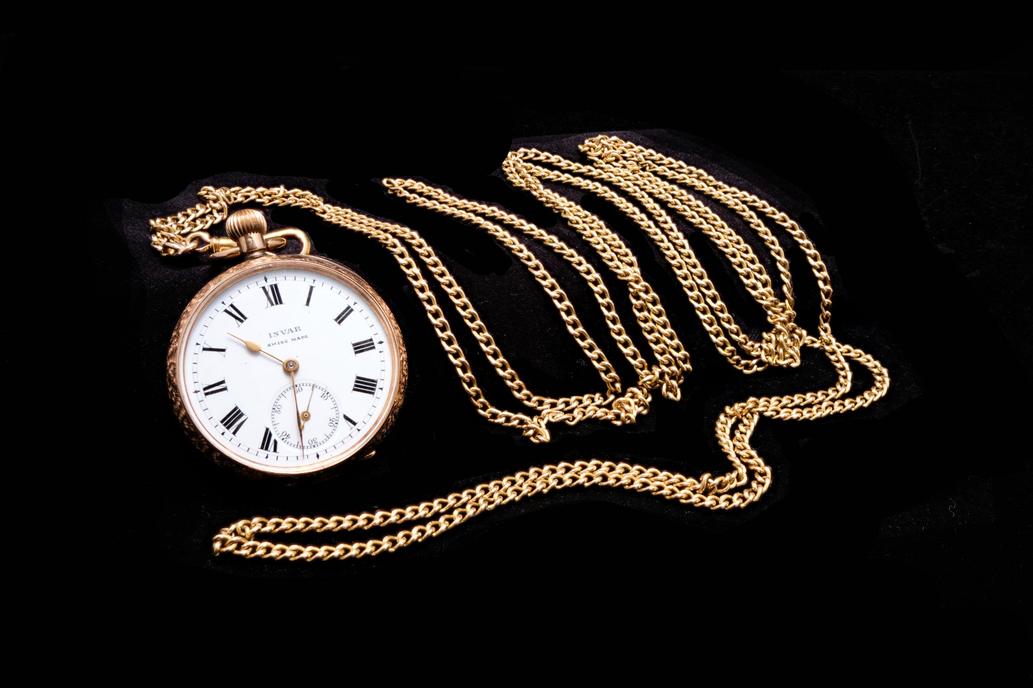 Victorian Ladies 15 Carat Gold Chain and Pocket Watch.