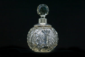 Sheffield Sterling Silver Collared Perfume Bottle