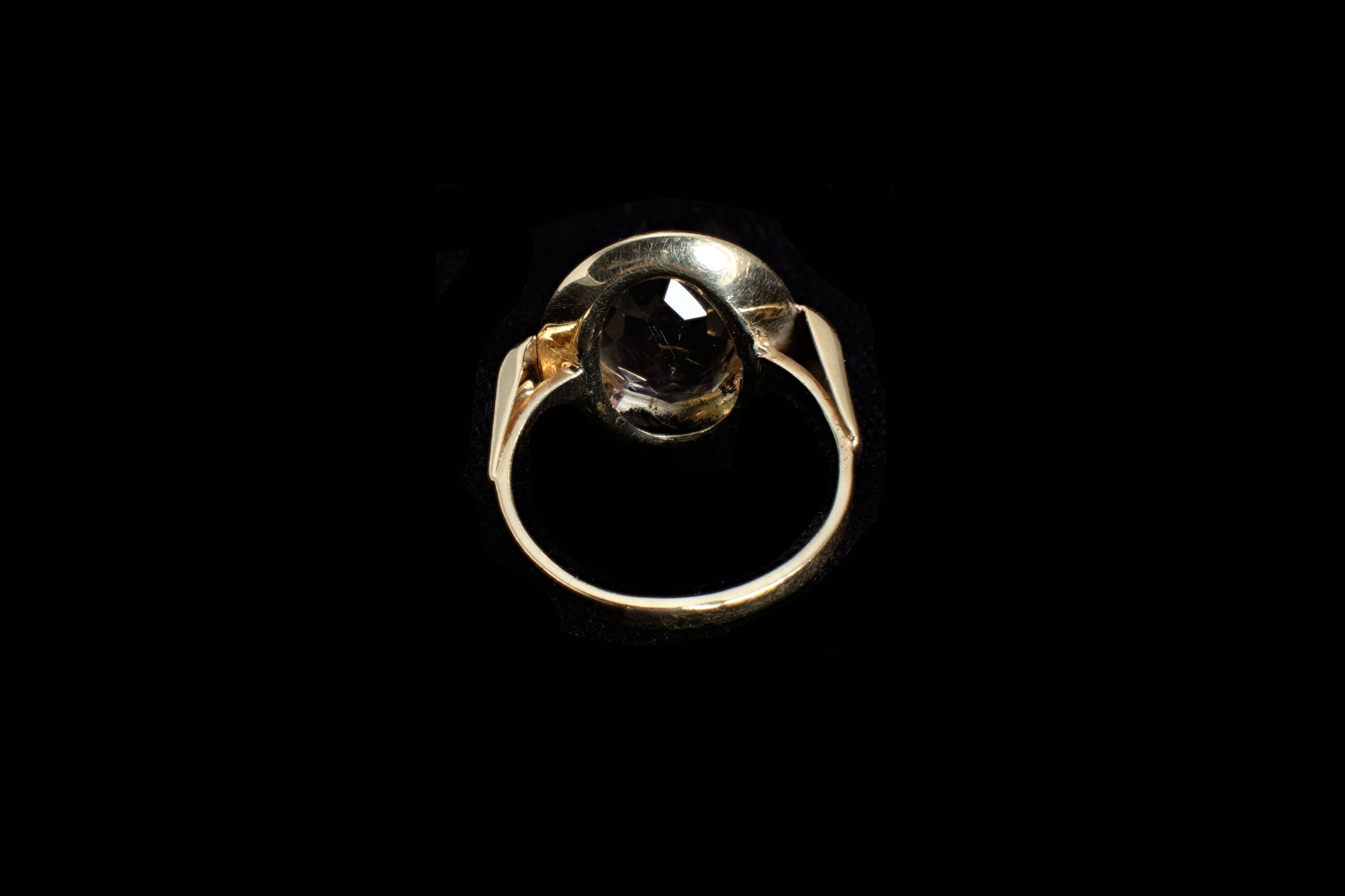 Vintage 15 carat Gold Citrine Ring