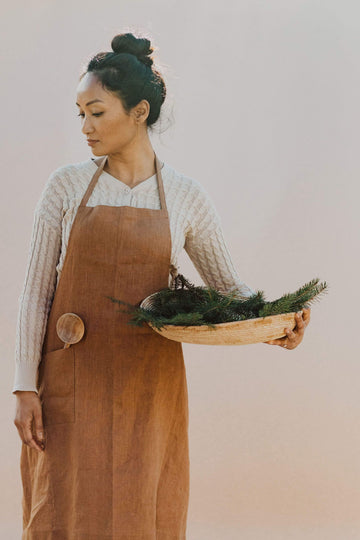 Anupaya apron DAILY LINEN APRON | BUTTERSCOTCH