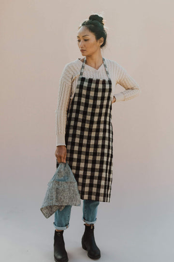 Anupaya apron LINEN DAILY APRON | PLAID