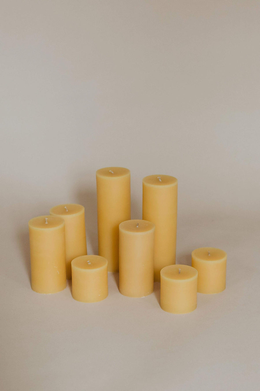 Anupaya Candle BEESWAX PILLARS