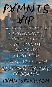 V I P | Aug 12th | Knitting Factory | Brooklyn, NY