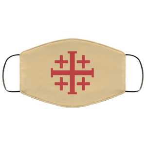 Jerusalem Cross Face Mask