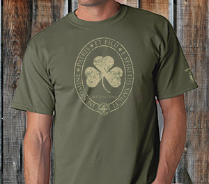Saint Patrick Trinity Distressed Mens Shirt