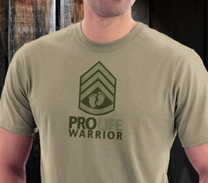 """Pro-Life Warrior"" Mens Shirt"