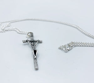 St. John Paul II Papal Cross Pendant & Chain