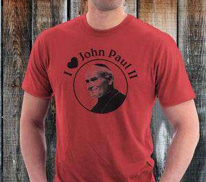 """I Love John Paul II"" Mens Shirt"